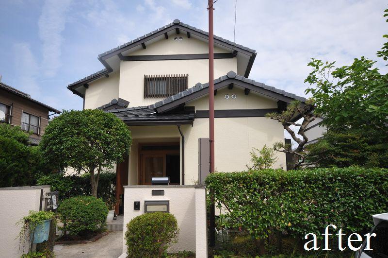 【外観】屋根瓦葺き替え・外壁塗装・玄関ドア交換・1階サッシ全窓交換