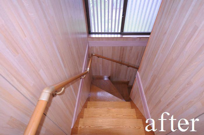 【リフォーム後】階段 内装・手摺取付